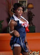 Hot Ebony TGirl Bambie
