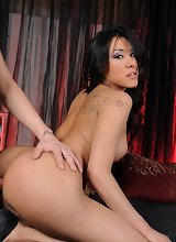 Hot tgirl Ximena gets drilled by the boss