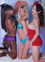 Nikki posing with TS Angelina & Natassia