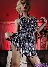 Exotical Odette posing her large ladystick